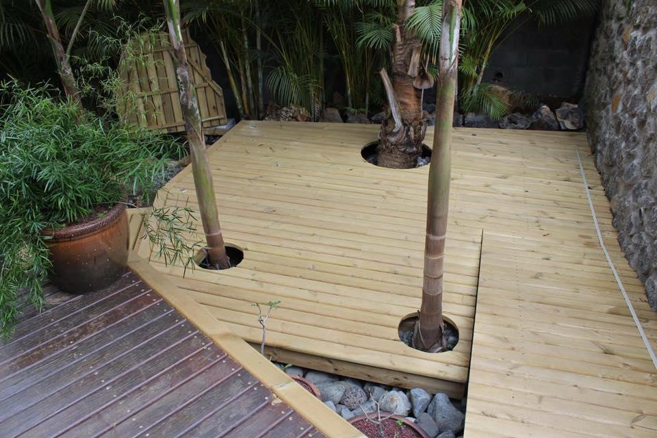 aménager votre jardin à L'Étang-Salé | R Charpente